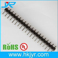 3.96mm square pin header single header 180 degree for PCB mount