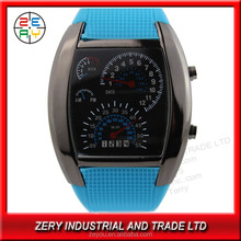 R36 Eco-friendly PU with digital movement,led usb watch
