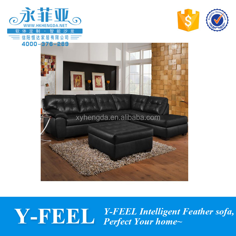 L shape leather sofa with bed and stroage recliner sofa set W24