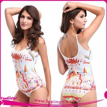 wholesale casle one piece latex swimsuit for women