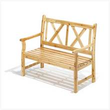 Bench-Polished Pine for Home or Garden