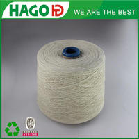 Free sample factory price raw white recylced cotton working gloves yarn for knitting