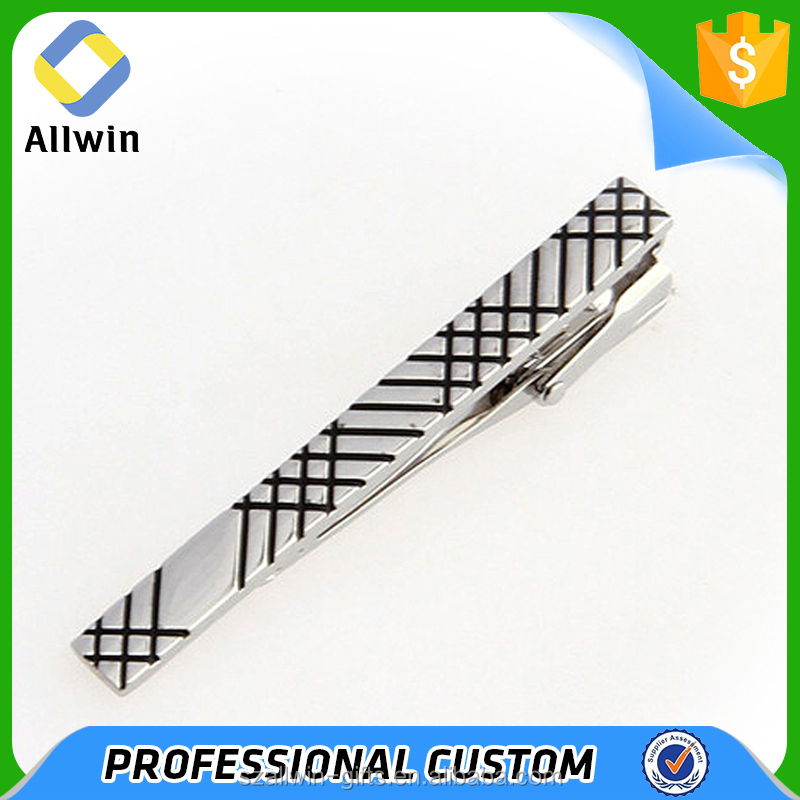 OEM wholesale metal narrow elegant wedding tie clip