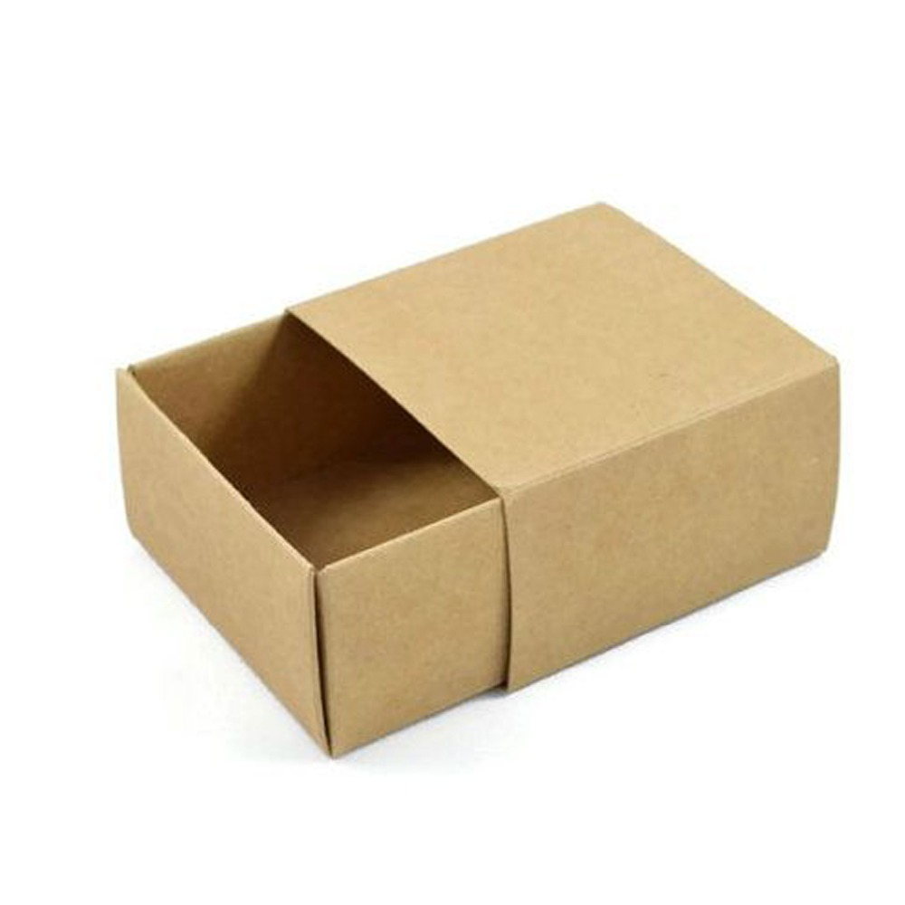Hot sale not any printing just plain kraft draw box