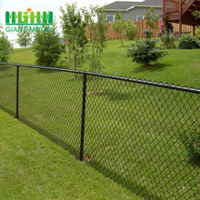 PVC Coated Black Diamond Wire Mesh Chain Link Fence
