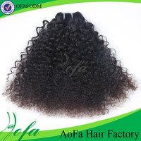 Wholesale hair piece unprocessed brazilian afro kinky curly hair
