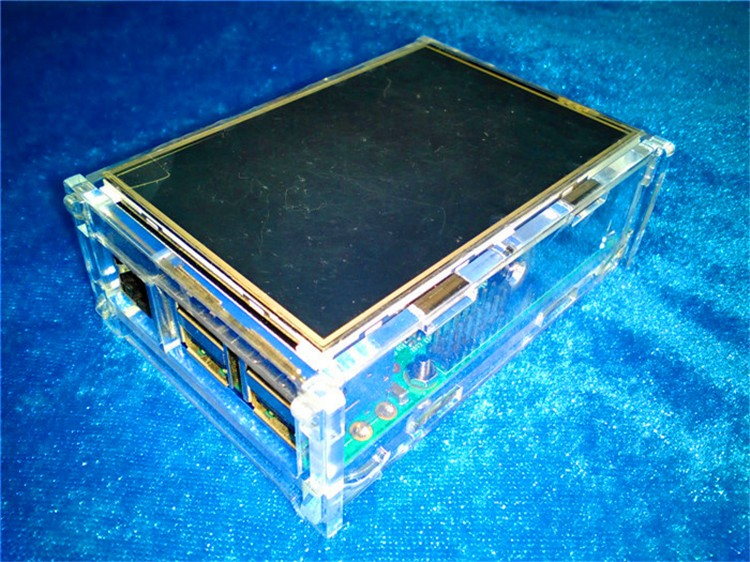 hot sale Transparent Acrylic Case support 3.5inch TFT, 480*320 For Raspberry Pi 3