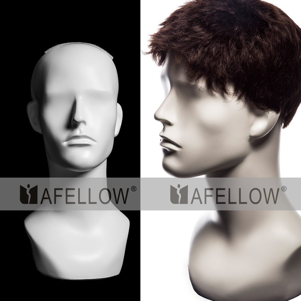 H1110 New Arrival 100% Human Hair Training male Mannequin Head