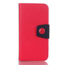 Card Holder Flip Cover Wallet Contrast Color Leather Case, New Arrival Leather Case For iPhone6