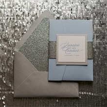 pearl paper banquet decorated for high end invitations card