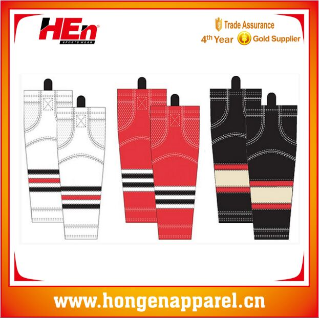 Hongen apparel Professional 2016 Best quality custom ice hockey jersey , custom hockey shirt team logo cotton sock