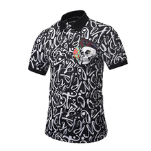 Fashion new style 3d digital printing short sleeve polo shirt custom with Skull