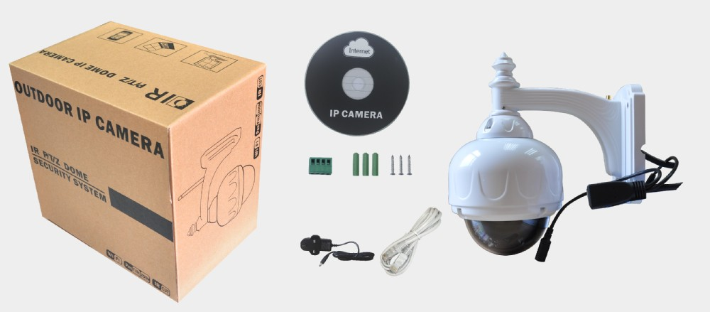 WPS 1080p ptz high speed dome outdoor video security wireless wifi IP Camera with 8G SD card NEO coolcam