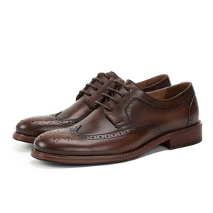 Custom made wholesale best price mens dress brogue casual genuine leather business shoes