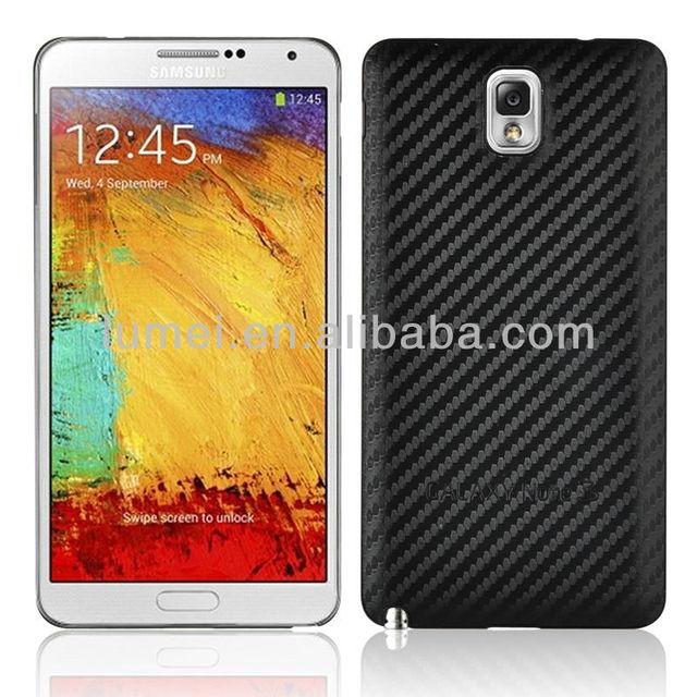 Hot Selling Black Carbon Battery Back Housing Case For Samsung Note 3 N9000