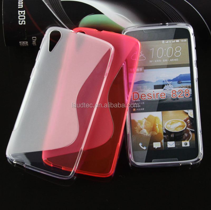 New Arrival S-Line Tpu case for HTC desire 828 Anti-knock protective back case cover
