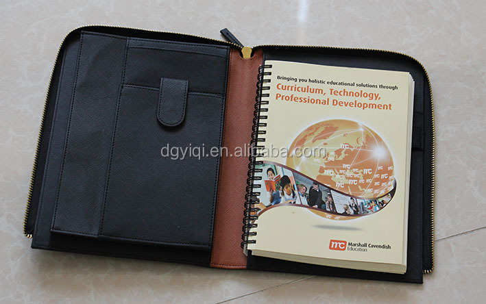 PU Leather A5 padfolio with zipper