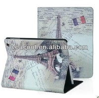 Retro Eiffel Tower PU Leather Case for iPad Air Case iPad 5 5th Gen Case