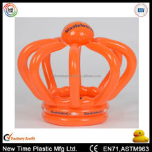 Customized pvc inflatable advertising king crown for promotion.