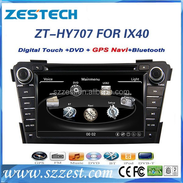 car dvd gps navigation for Hyundai I40 car dvd gps navigation system with radio player 3G ZT-HY707