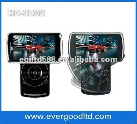 slim 3D digital video camera with 8 MP and 3.2 inch LCD,Built-in microphone,portable
