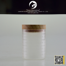 Factory direct wholesale different capacity clear borosilicate glass jar with bamboo lid