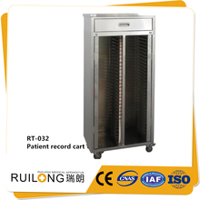 Customizable Stainless Steel Chart Clinic Patient File Trolley