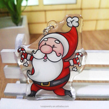 Cheap acrylic keychain santa claus key ring for christmas gift KEL0273