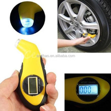 DIHAO Digital Tire Tyre Air Pressure Gauge Tester Tool Small Portable Design with LCD Display and LED Light for Auto Car Motorcy
