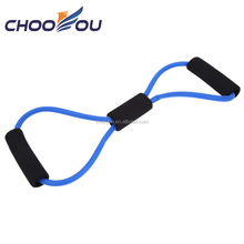 Custom logo gym training equipment x shape resistance tubes