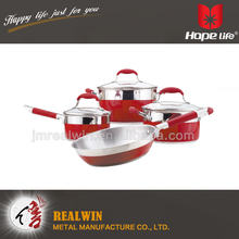2016 new products encapsulated bottom stock pot ,cookware pan , cookware set