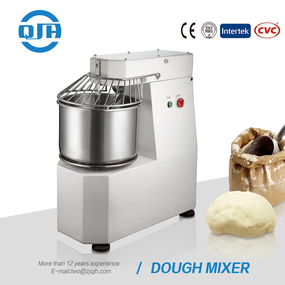 Best price china factory high performance industrial stainless steel electric 1100w 100kg stand spiral dough mixer