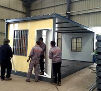 High quality big span strong insulation prefabricated container house