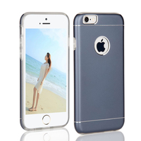 Luxury dual layer mobile phone cases for iphone 6 plus outer aluminun + inner tpu anti-shock back cover cases for iphone 6 plus