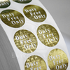 Custom round shape partial varnishing Invisible ink printing labels
