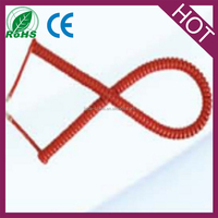 Red Telephone Handset Cable Cords