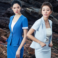Women office uniform style designs skirt suits female business work clothing set