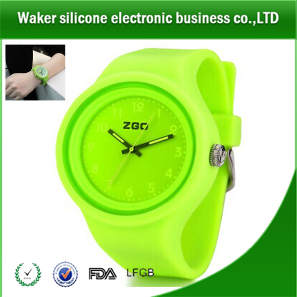 Fashion Silicone Rubber Wrist/ Gift Watch, High Quality Elastic Wrist Band