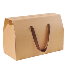Low Price Foldable Custom Printed Corrugated Kraft Box with handle