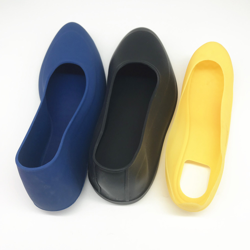 China factory custom OEM waterproof silicone rubber galoshes reusable rain overshoes shoe covers anti slip overshoes