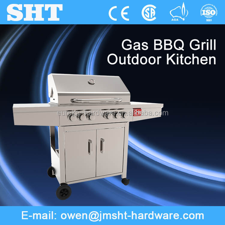 Factory Directly Selling Vertical Steel Outdoor Bbq Gas Grill For Sale
