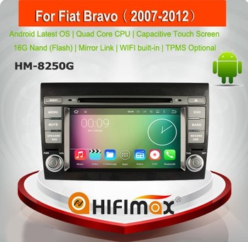 HIFIMAX touch screen android 5.1.1 car dvd for fiat bravo car gps navigation with HD 1024*600