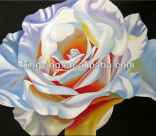 Oil painting rose flower picture on stretched canvas