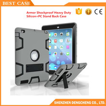 Kids Safe Armor Shockproof Heavy Duty Silicon+PC Stand Back Cover Case For ipad 9.7 Pro Tablet PC