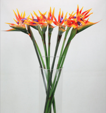 factory direct wholesale artificial large plastic PU Strelitzia FLOWER
