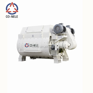 JS1000Twin Shaft Concrete Mixer Price BHS twin shaft concrete mixer twin shaft mixer factory price from co-nele on sale