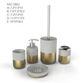Modern brass hotel bathroom accessory set