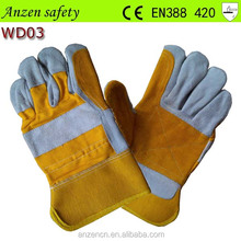 Machinist Cow Split Leather Working Safety Gloves with CE EN388