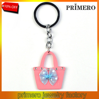 PRIMERO Crystal Wooden bags, people, fish Purse Handbag Key Chains Rings Bag Charms Pendant diamond key chain