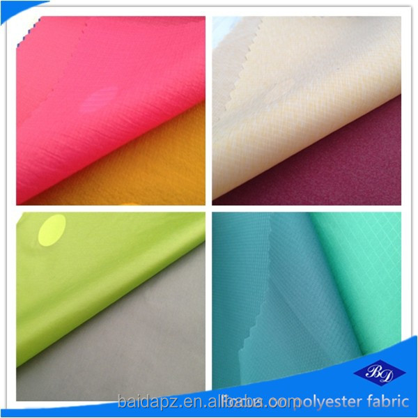 210d nylon fabric/silicone coated ripstop nylon fabric/92 nylon 8 spandex fabric